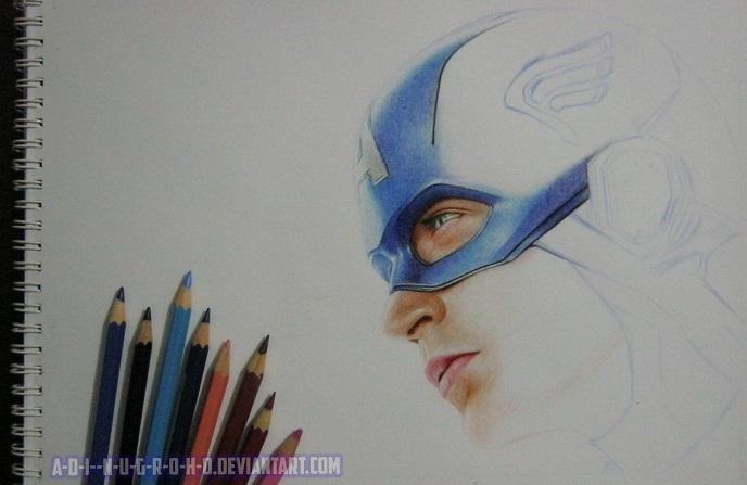 Captain America wORk IN pROGREss ONe by A-D-I--N-U-G-R-O-H-O