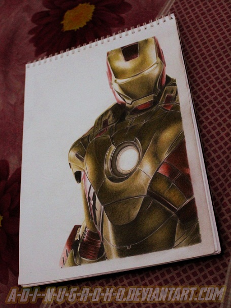 Iron Man 3 on paper by A-D-I--N-U-G-R-O-H-O