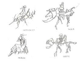 The Four Horsemen of the Apocalypse by aGentlemanScientist
