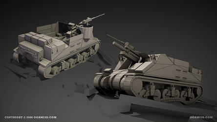 M7 Priest - shaded wire