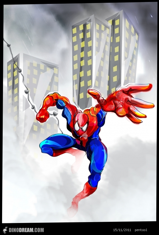 spider-man by pen-tool