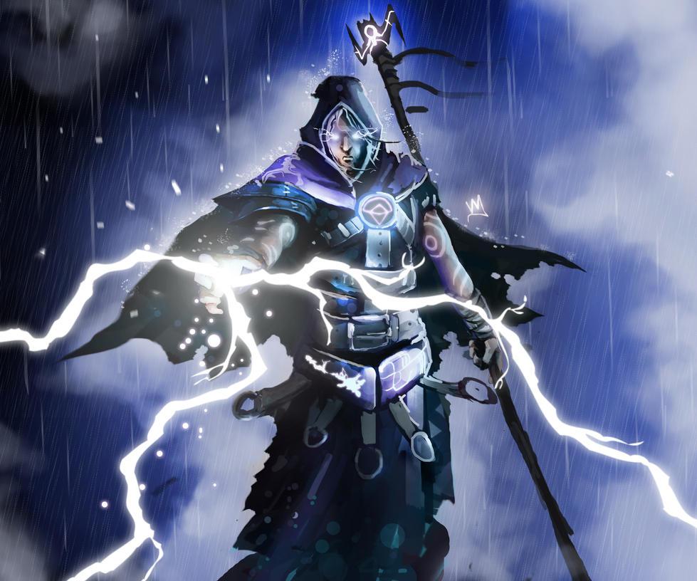 Mis viejas Pinturas DigitalesLightning Wizard
