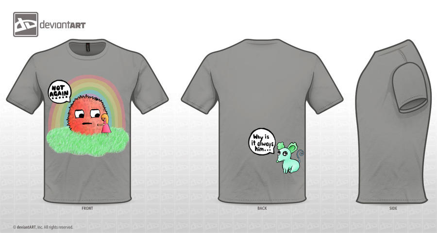 Cute Monster Tshirt Not Again by love-rainbowflower