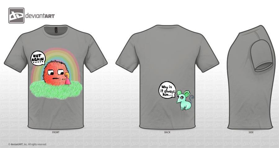 Cute Monster Tshirt Not Again by love-rainbowflower