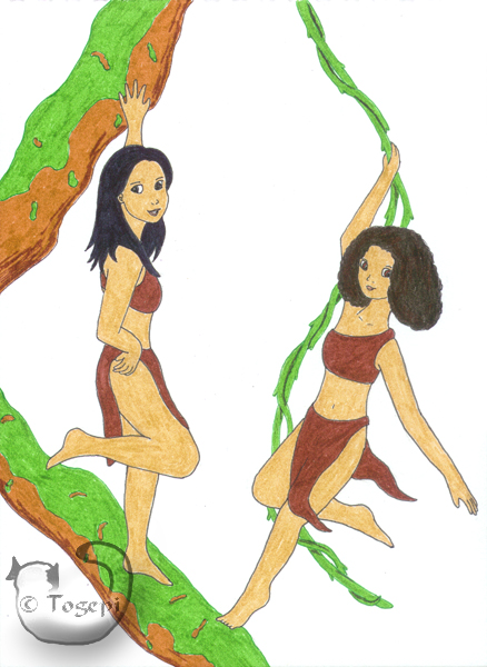 'Sexy girls in loincloths' by mene