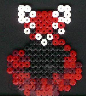 Fusible beads - red panda