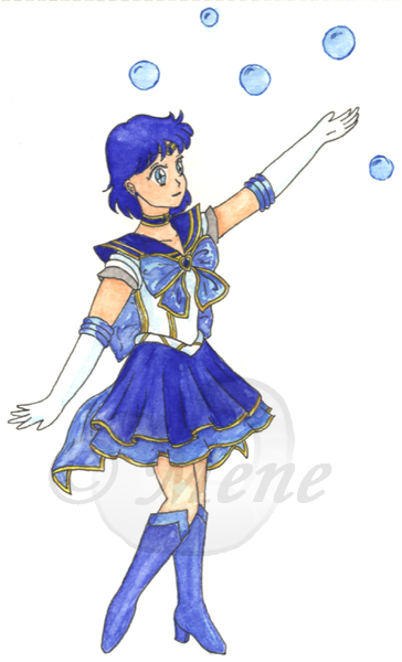 Seramyu Super Sailor Mercury by mene