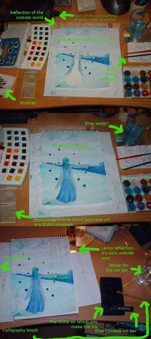 Blue Bird-Girl - progress