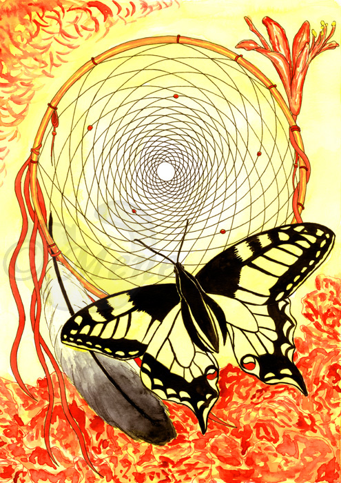 Dreamcatcher and butterfly