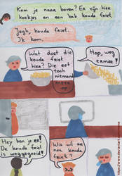 Work comic: Cold fries by mene