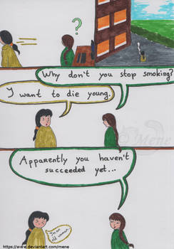 [Work comic] Why don't you stop smoking?