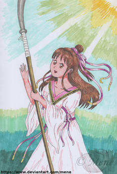 [Fushigi Yuugi Genbukaiden] Takiko gets a naginata
