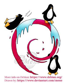 Debian penguins
