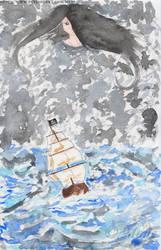 Pirate ship in a magic storm