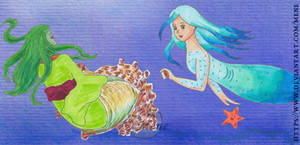 Sazae and Mutanu - Shell cleaning