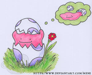 [Pokemon] Ditto hatches from an egg