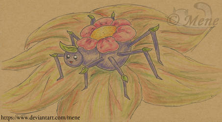 Arananth, the flower spider