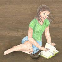 Jen on the beach - Bookmooch
