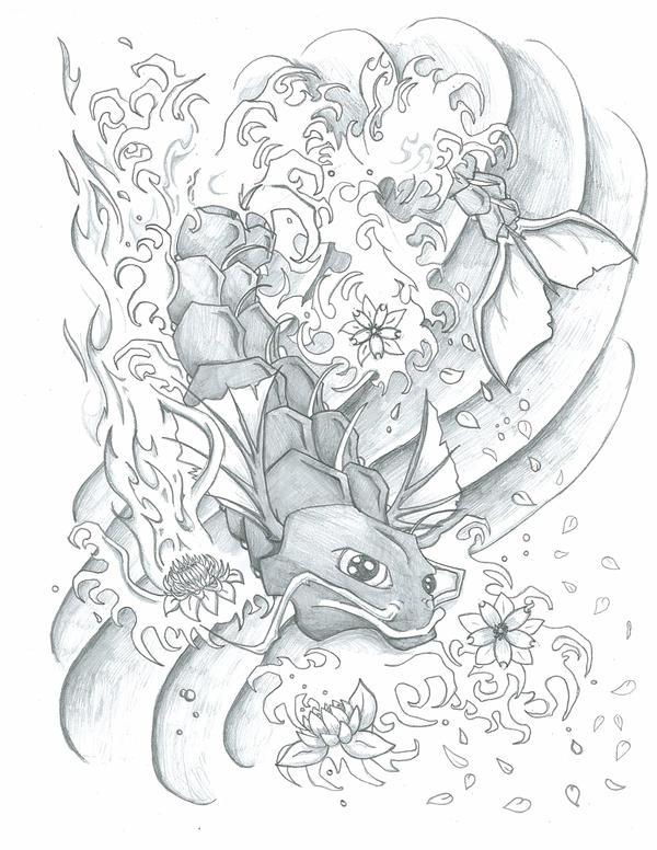 Koi dragon by blackwaterdesigns on deviantart for Black dragon koi