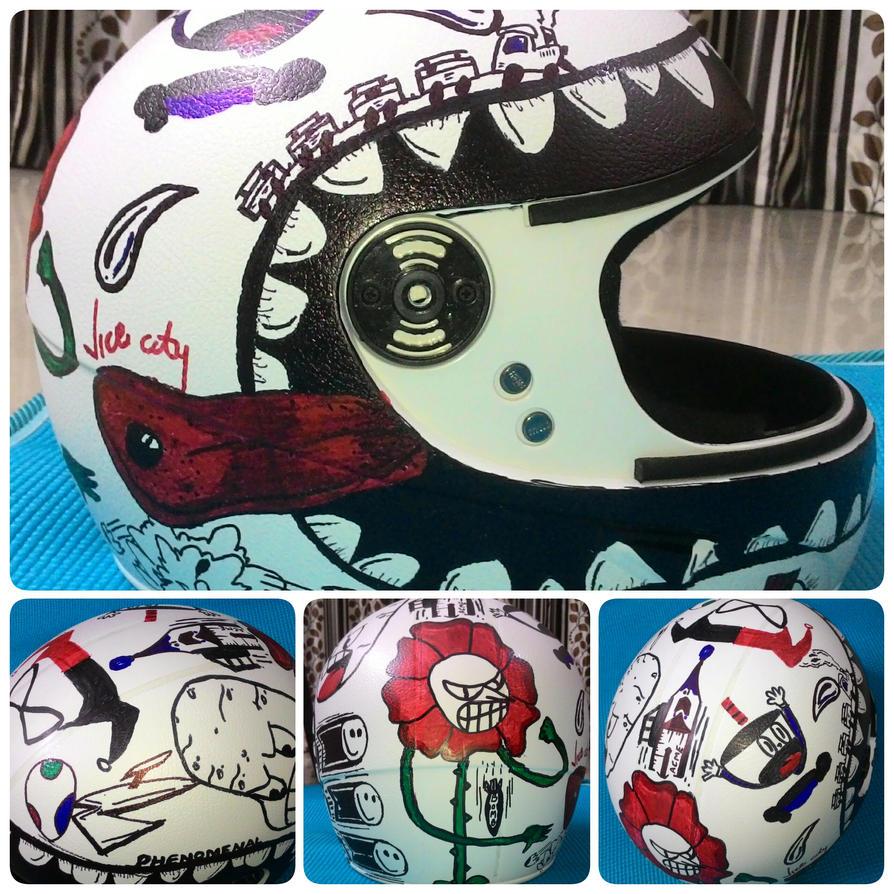 Helmet Graffiti by rohit-orAnge