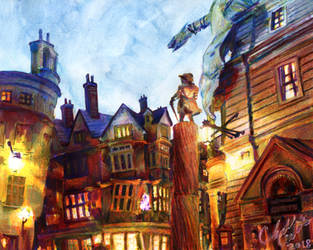 Diagon Alley by saunterloft