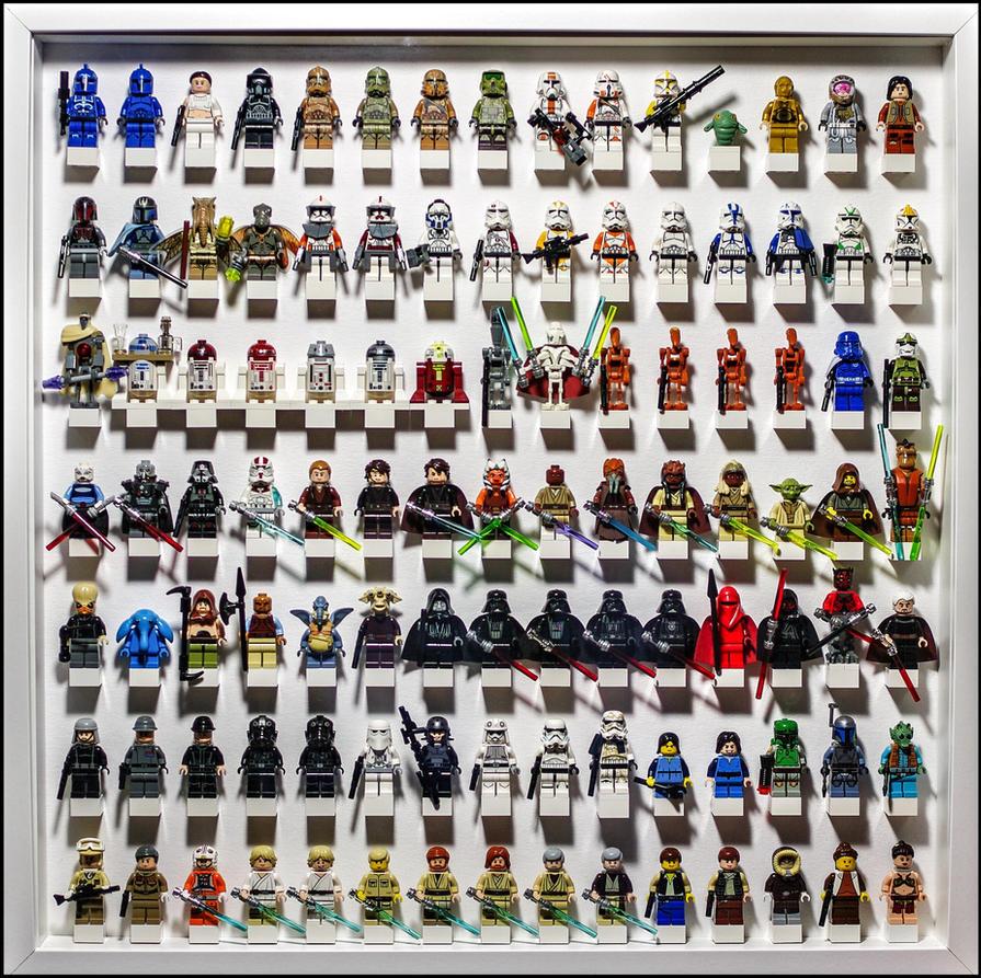 Lego Star Wars Minifig display No. 05 by Artamir78