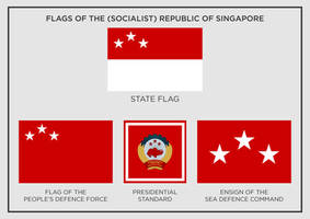 Flags of the (Socialist) Republic of Singapore by SemperEadem-SG