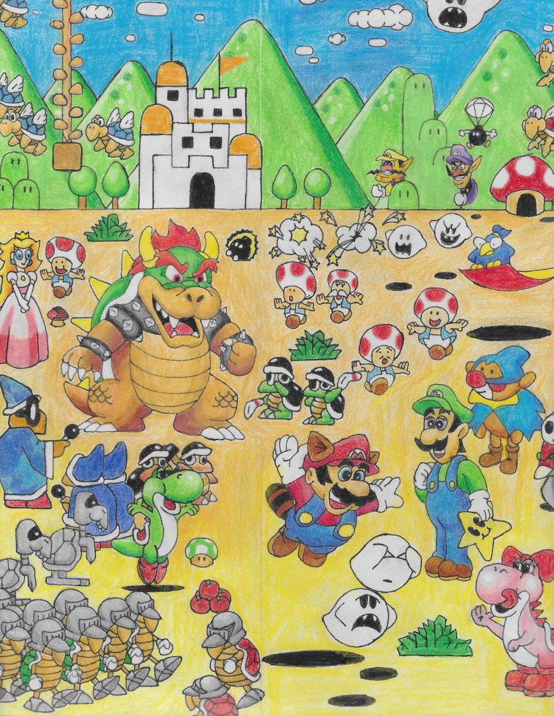 Mario Bros Collage Part 1 by Thedude32