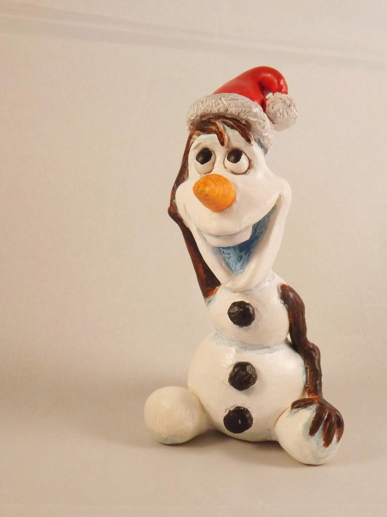 Christmas Olaf sculpture by dragonbaba on DeviantArt