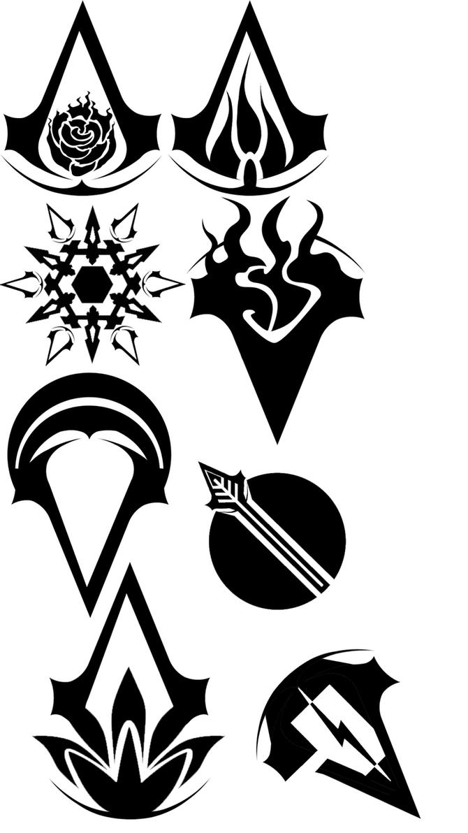 Rwby Assassins Creed Symbols By Shazarakk On Deviantart