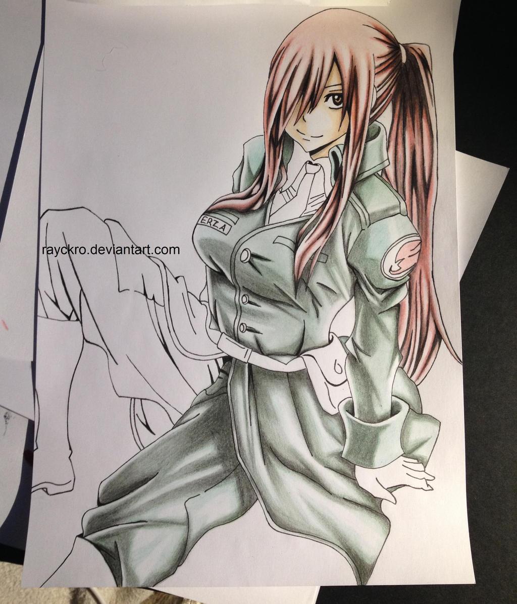 WIP: Erza Scarlet ([ Fairy Tail ]) by Rayckro