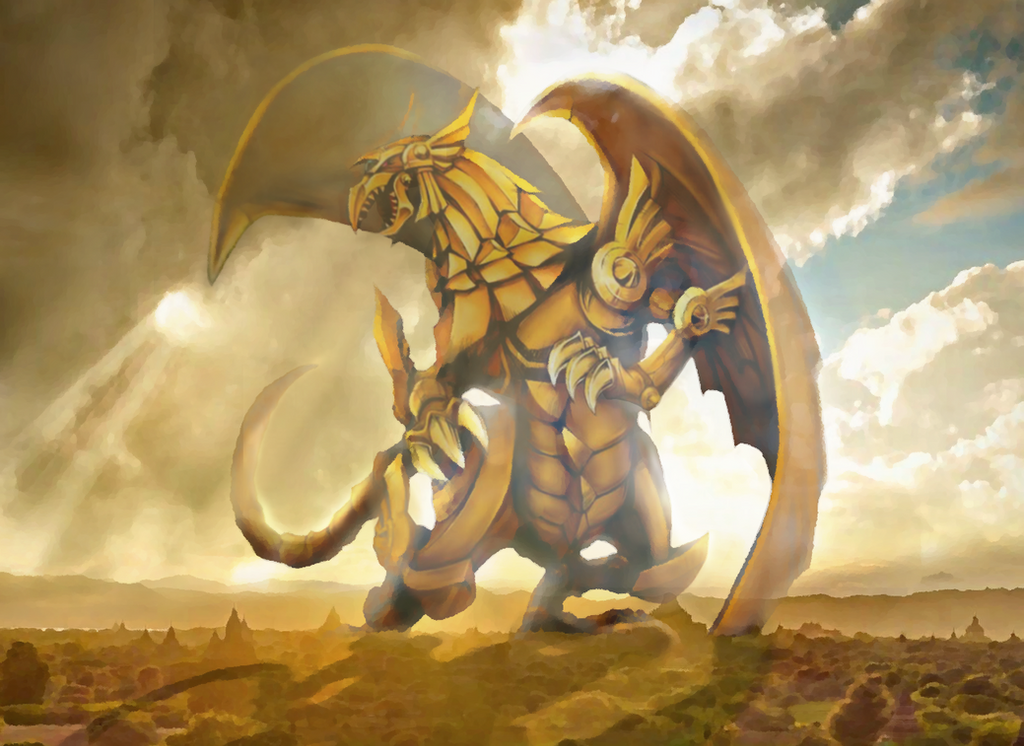 The Winged Dragon of Ra (MTG Style) by JojoDaggerback