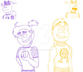 Albie and Bevin Humanization Sketches