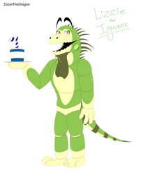 Lizzie The Iguana :REQUEST: by ZozanTheDragon