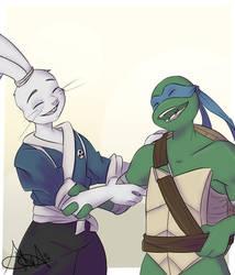 blue sword boys!!