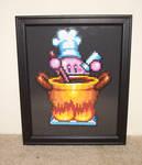 Kirby Chef Framed Bead Sprite