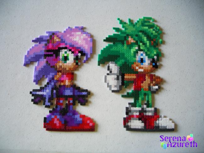 Sonia and Manic Bead Sprite by SerenaAzureth