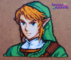 Link Portrait Bead Sprite by SerenaAzureth