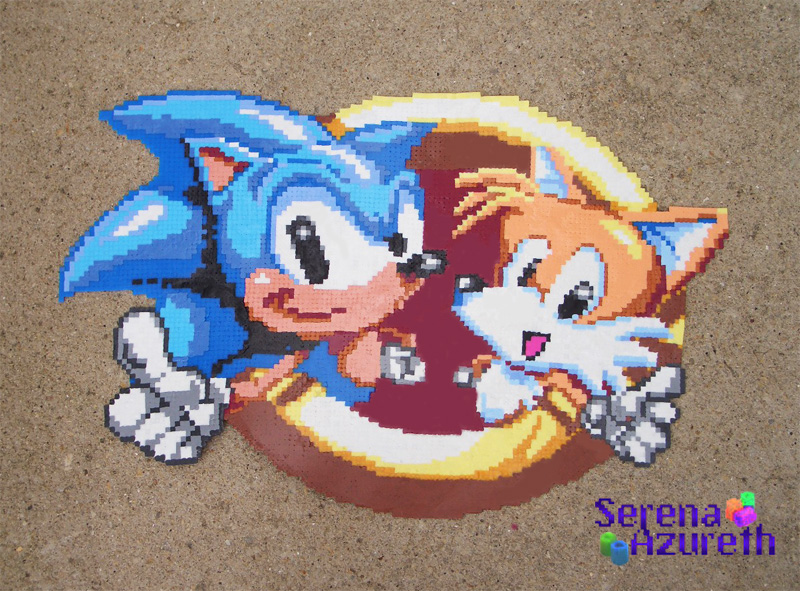 Sonic Chaos Logo Bead Sprite by SerenaAzureth