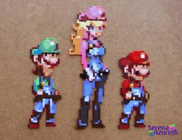 Luigi Peach Mario Plumber Trio by SerenaAzureth