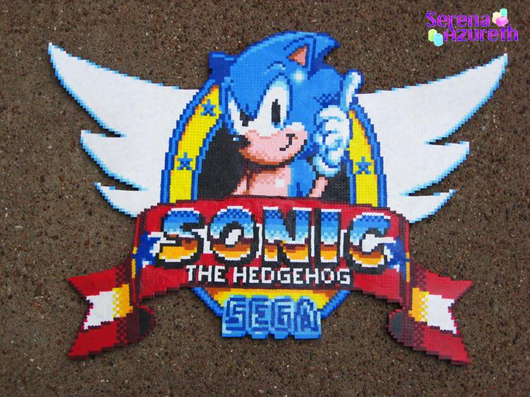 Sonic 1 Logo GameGear by SerenaAzureth