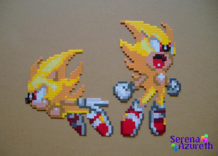 Super Sonics Bead Sprite By Serenaazureth On Deviantart
