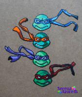 TMNT Mini Bead Group by SerenaAzureth
