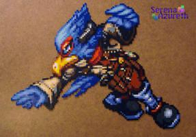 Falco Bead Sprite Art by SerenaAzureth