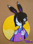 Geisha Rabbit on the Moon
