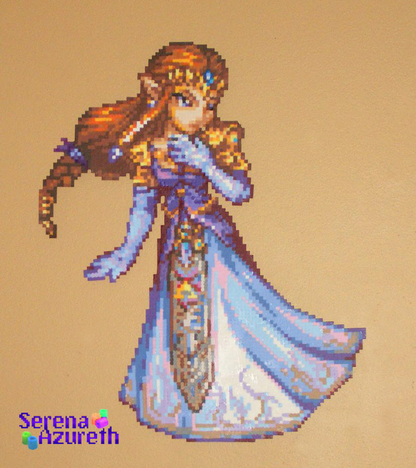 Princess Beads: Princess Of Hyrule Bead Sprite By SerenaAzureth On DeviantArt