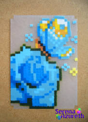 Butterfly  Blue Rose ATC