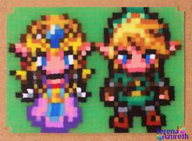Zelda Link ATC Bead Sprite by SerenaAzureth