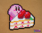 Kirby Kawaii Strawberry Cake