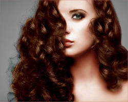 Colorize curly woman by BLAxBLA